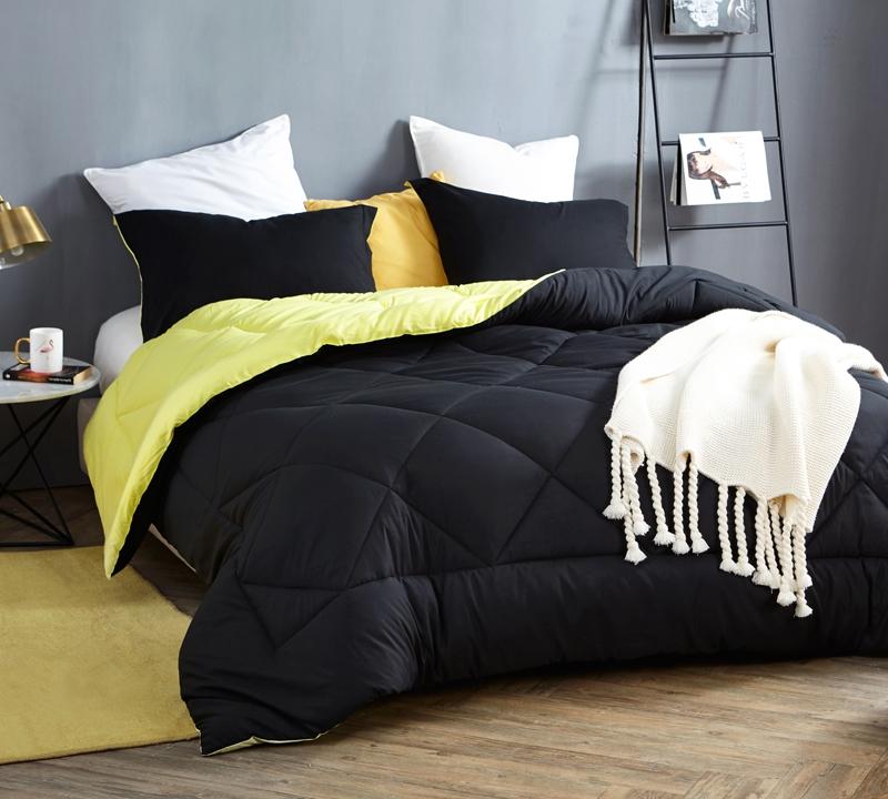 black limelight yellow queen comforter oversized queen xl bedding