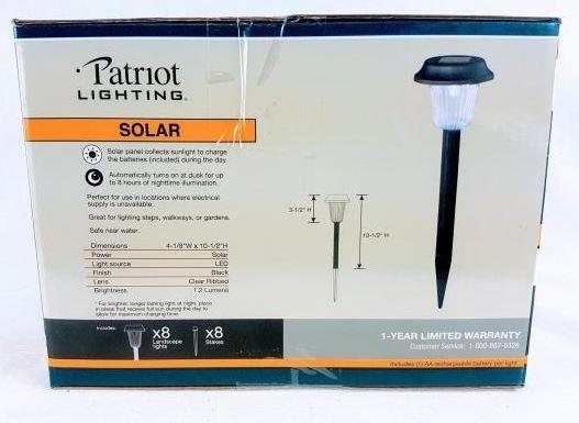 patriot lighting cranford solar garden light set of 8