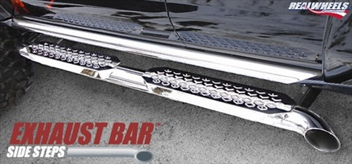 hummer h3 exhaust bar side steps with or without sport rails by realwheels