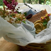 Holiday HandmadeNatural Artisan -Collection Soap Gift Basket (Five Piece)
