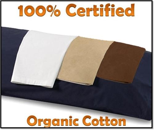 100 organic cotton body pillow case