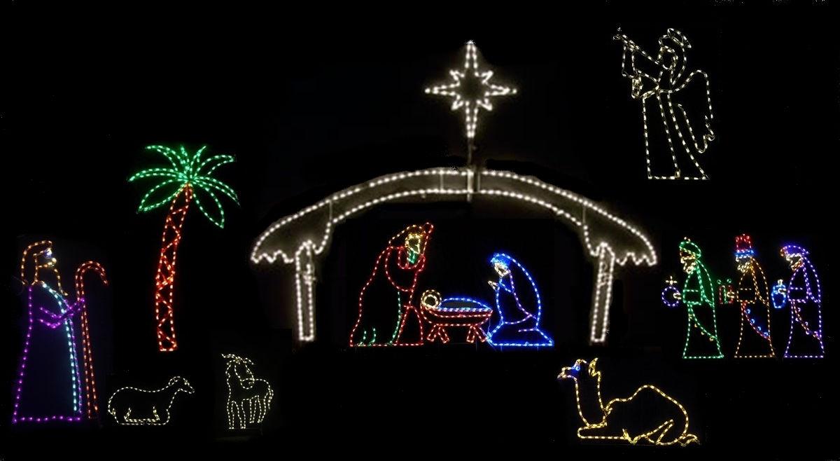 Nativity Light Display