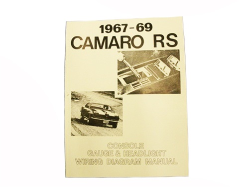 1967  1969 Camaro Wiring Diagram Manual, Rally Sport
