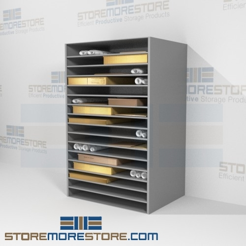 newspaper flat storage shelves 48 w x 30 d x76 h sms 17 wp483076