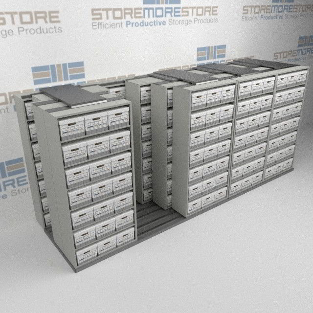 Sliding LetterLegal File Box Storage Racking Rolling
