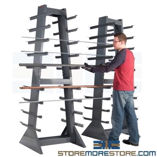 horizontal pipe storage rack 2 6 w x 2 6 d x 7 1 h sms 43 hsr303085 95