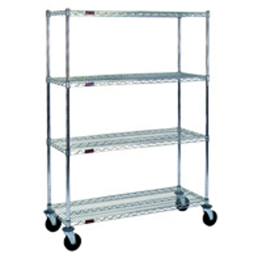 rolling wire storage shelving carts 36 wide x 18 deep sms 69 cc1836z s