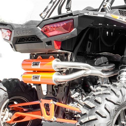 hmf performance series full dual exhaust system for polaris rzr xp 1000 rzr xp4 1000