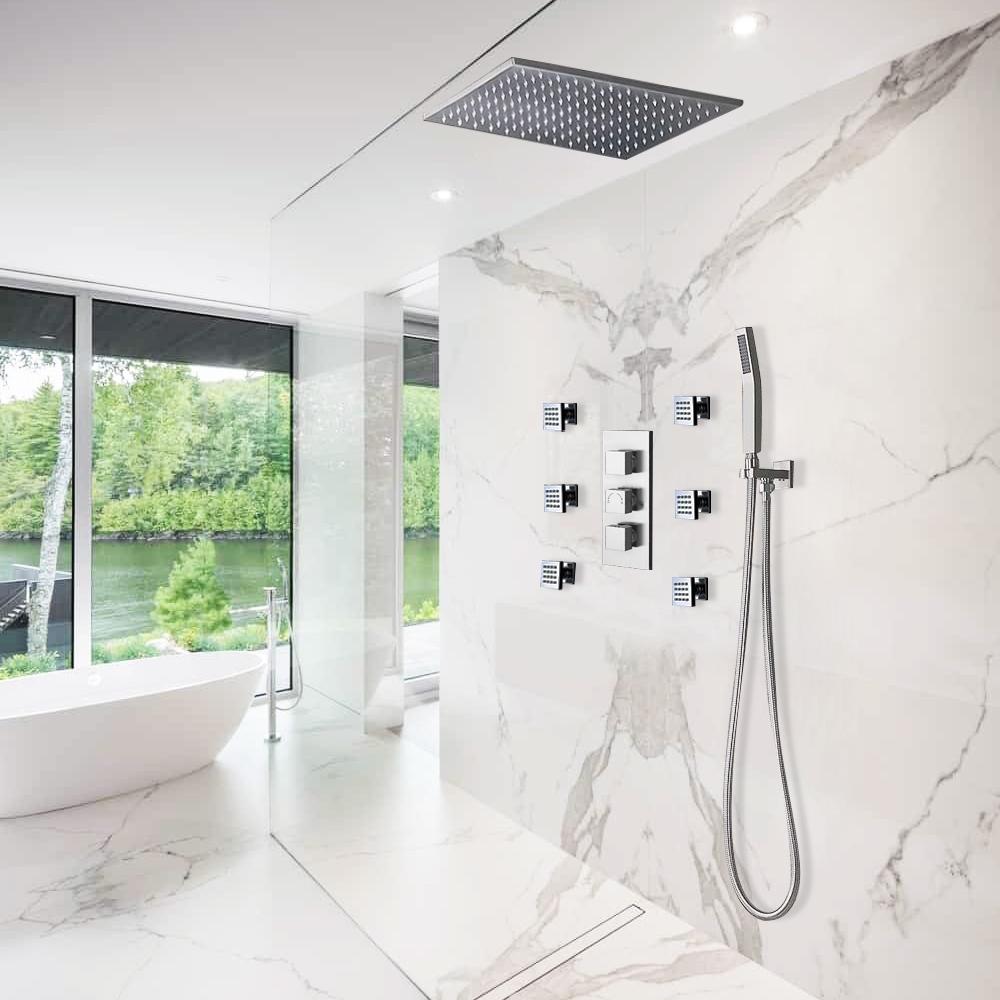 Fontana 2 Functions Rain Amp Mist Shower Head Set With
