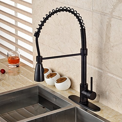 tindouf oil rubbed bronze kitchen sink faucet with pull down sprayer