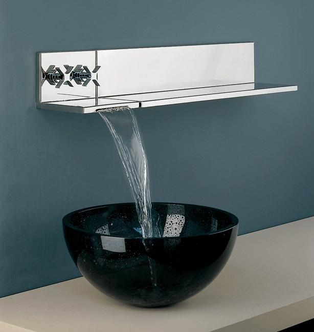 fontana chrome wall mount sink faucet