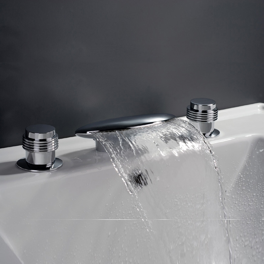 Waterfall Bathtub Mixer Faucet Bathroom Faucets