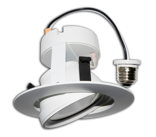 led recessed retrofit light 10 watts 4 inch gimbal ring 4000k