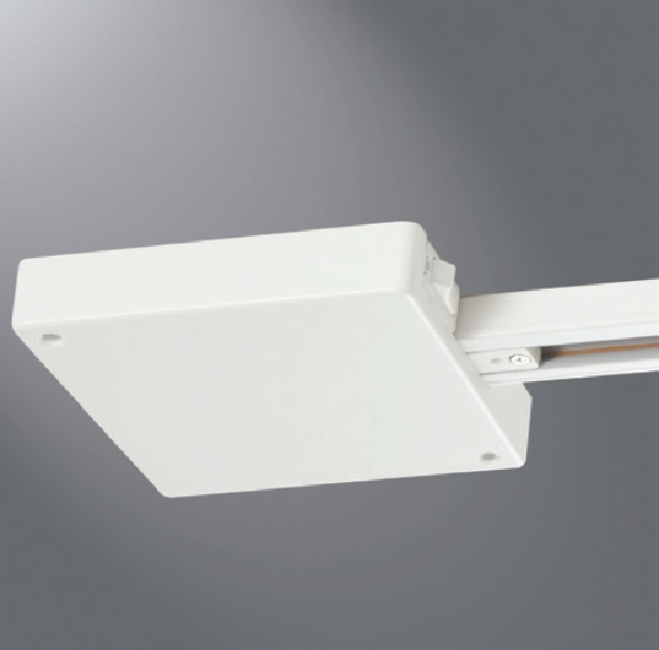 halo track lighting lc901cb300p 300w single circuit trac current limiter end feed white color