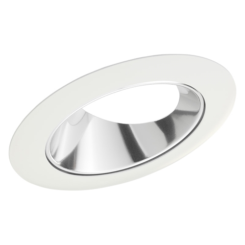 juno recessed lighting 46lc wh 46l cwh 4 standard slope trim for ceiling 9 degree to 24 degree clear alzak reflector white trim ring