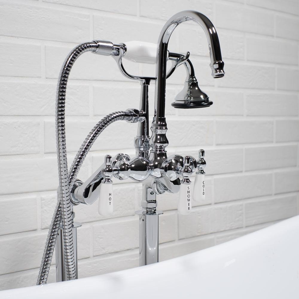 edwardian rigid freestanding tub faucet in chrome