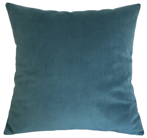 peacock blue velvet suede decorative throw pillow cover cushion cover 18x18