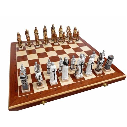 Polish Art Center Grunwald Chess Set Hand Painted