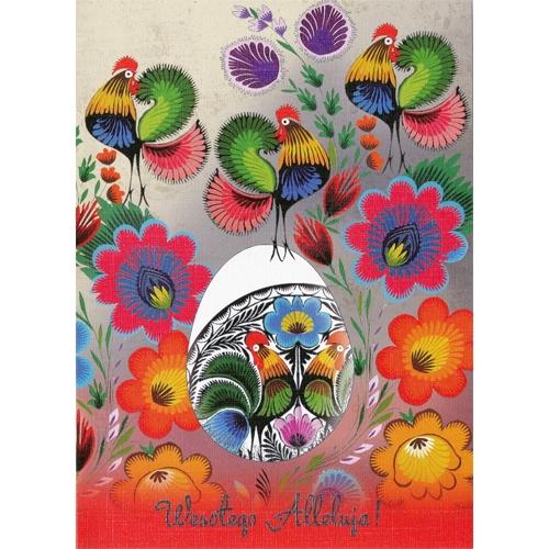 Polish Art Center Polish Folk Easter Card Wesolego