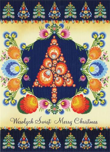 Polish Art Center Polish Folk Christmas Card Christmas