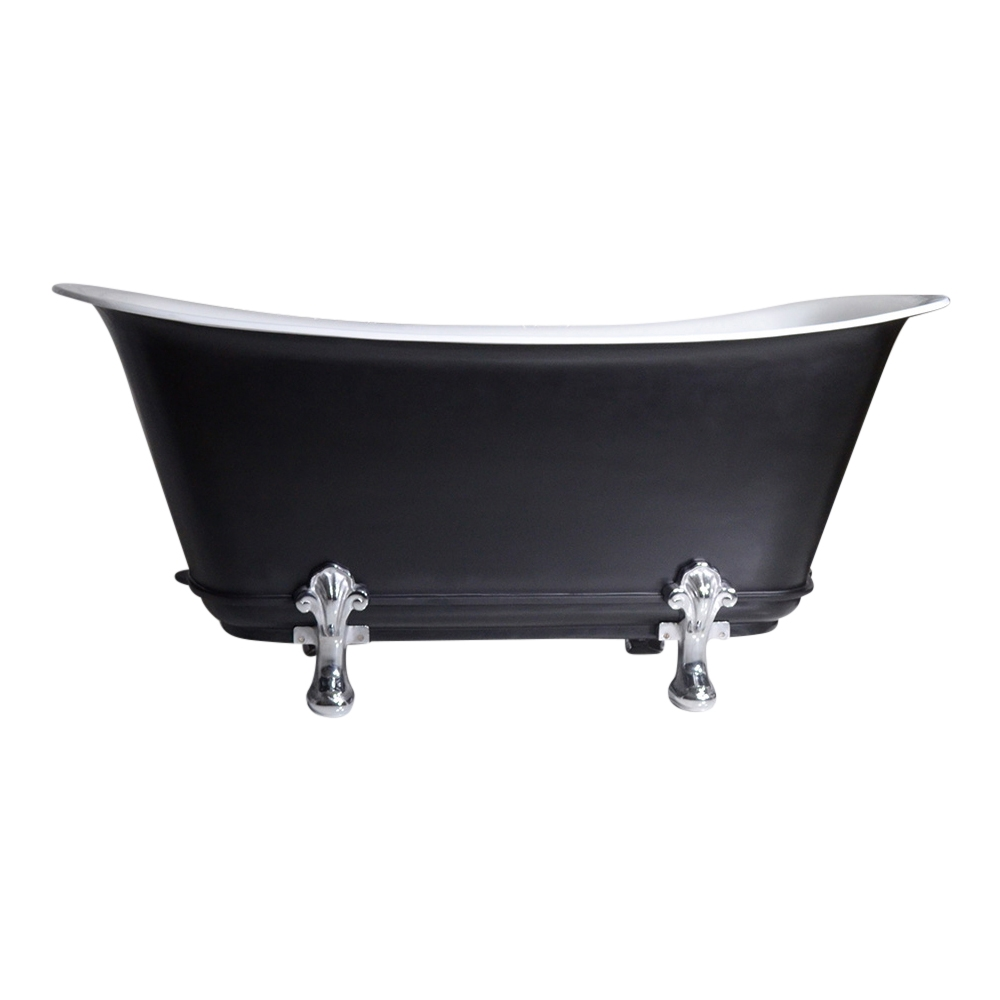 any solid color fontenelle 73 73 cast iron chariot clawfoot tub with drain