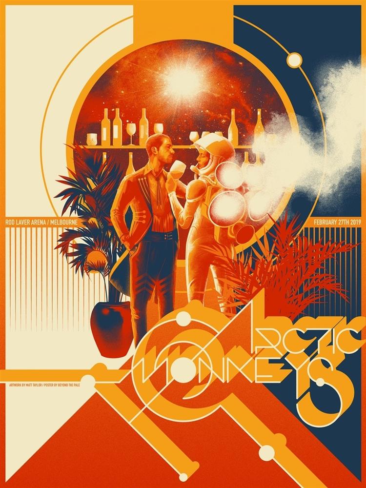 arctic monkeys concert poster by matt