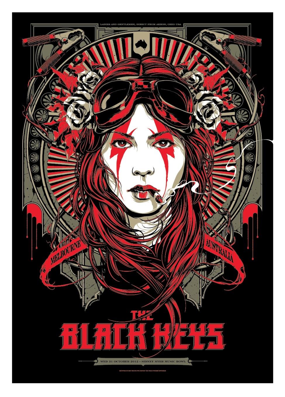 the black keys concert poster by ken taylor