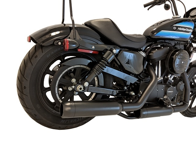 14 up h d sportster xl black tip compatible exhaust pipes