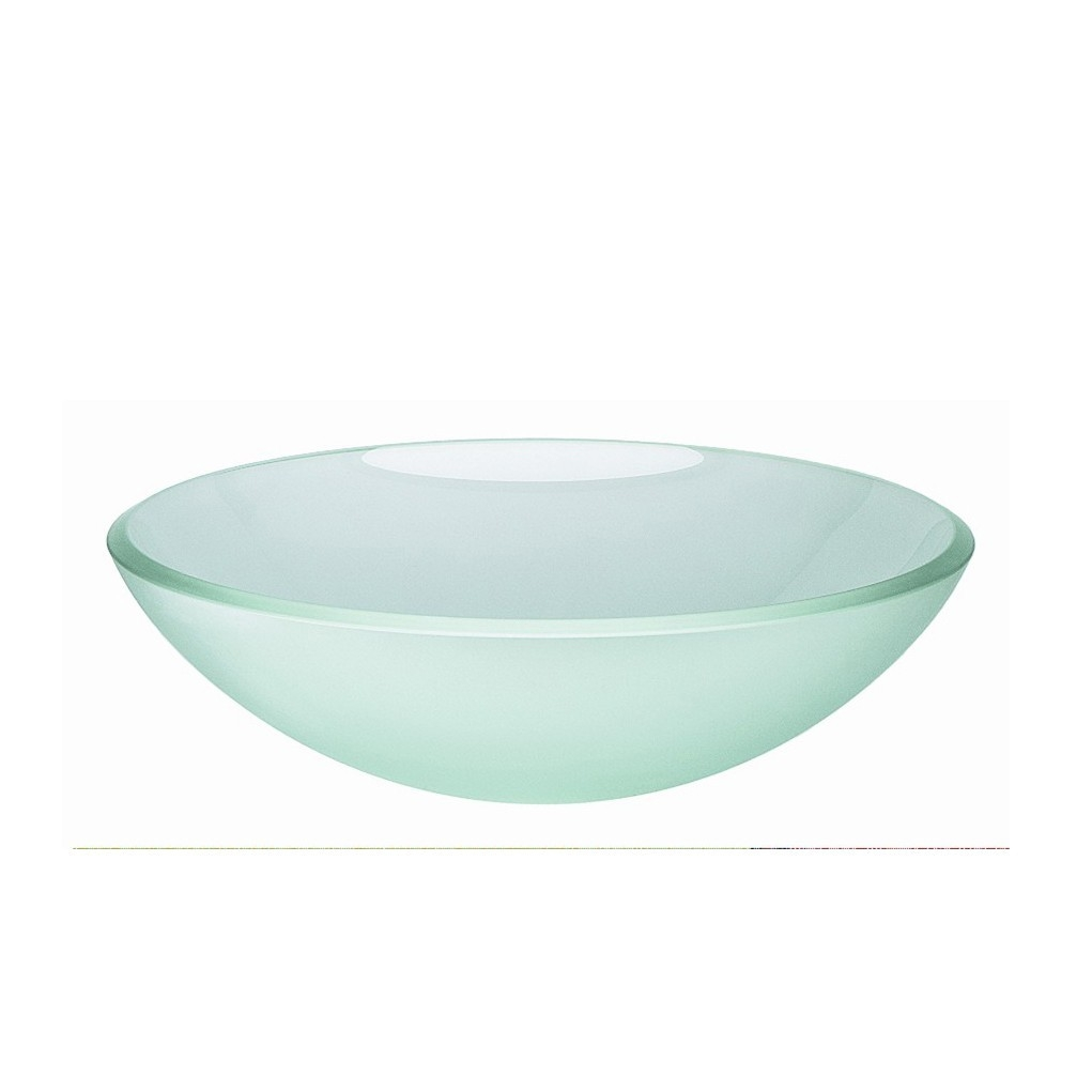 frosted glass vessel sink
