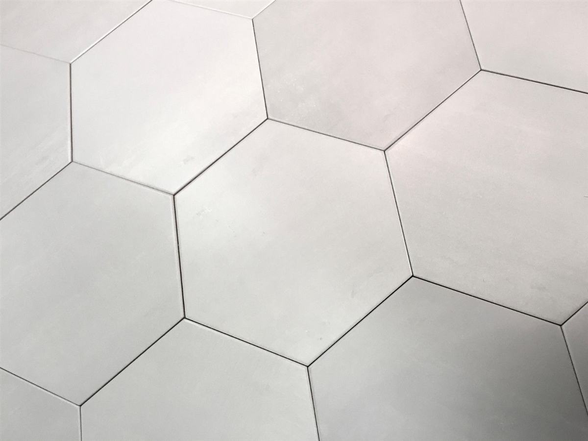 10 2 x11 4 mama mia hexagon argento soft gray porcelain floor tile