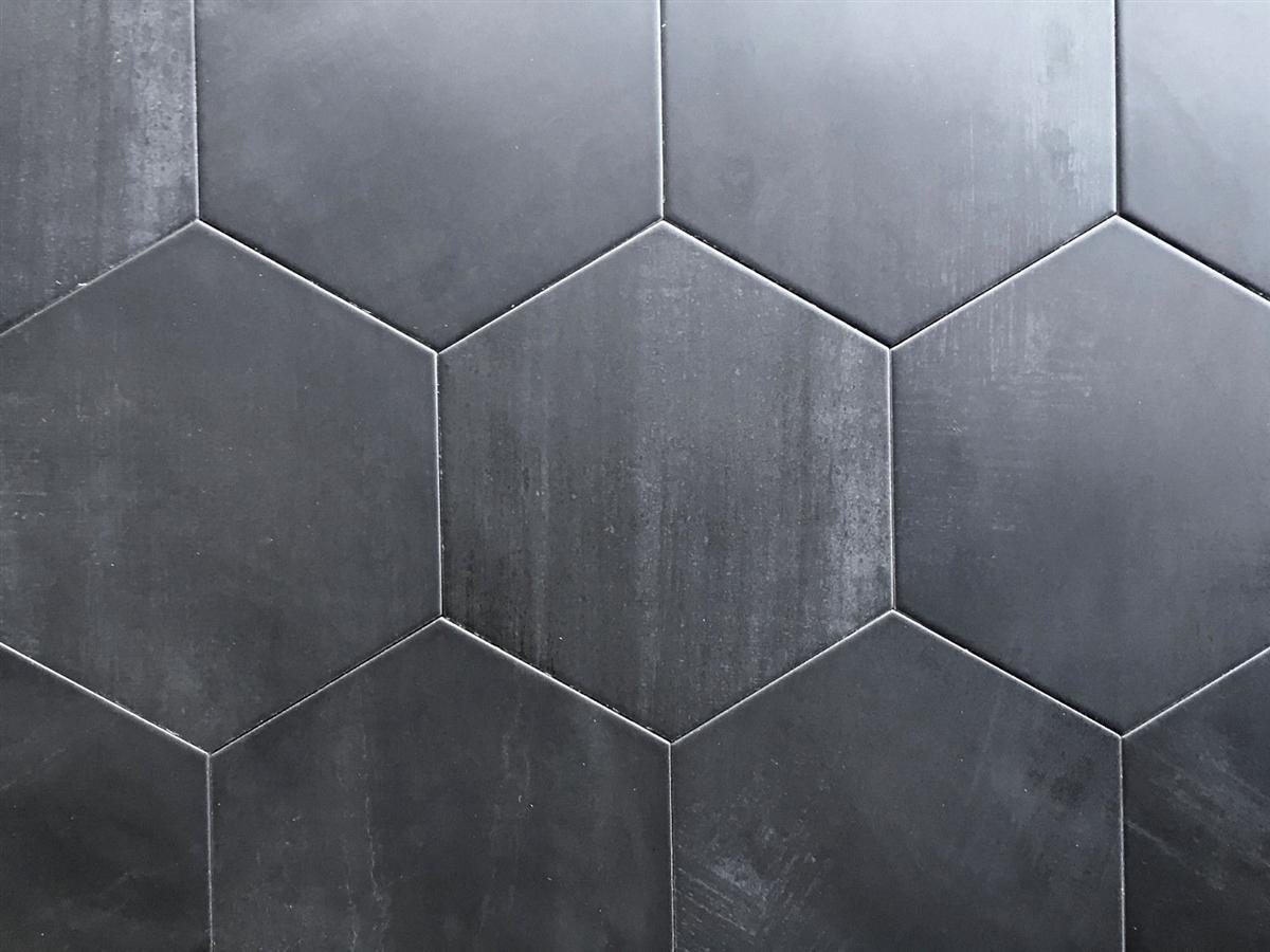 10 2 x11 4 mama mia hexagon graphite porcelain floor tile box of 9