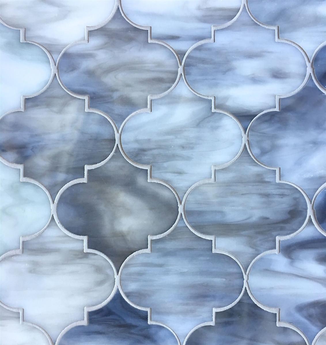 arabesque gray 11 5x13 glass tile mosaic
