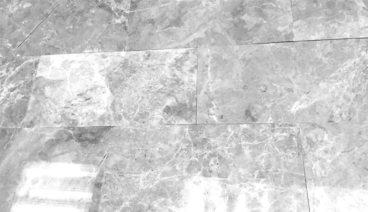 gray 3x6 subway polished marble tile backsplash wall