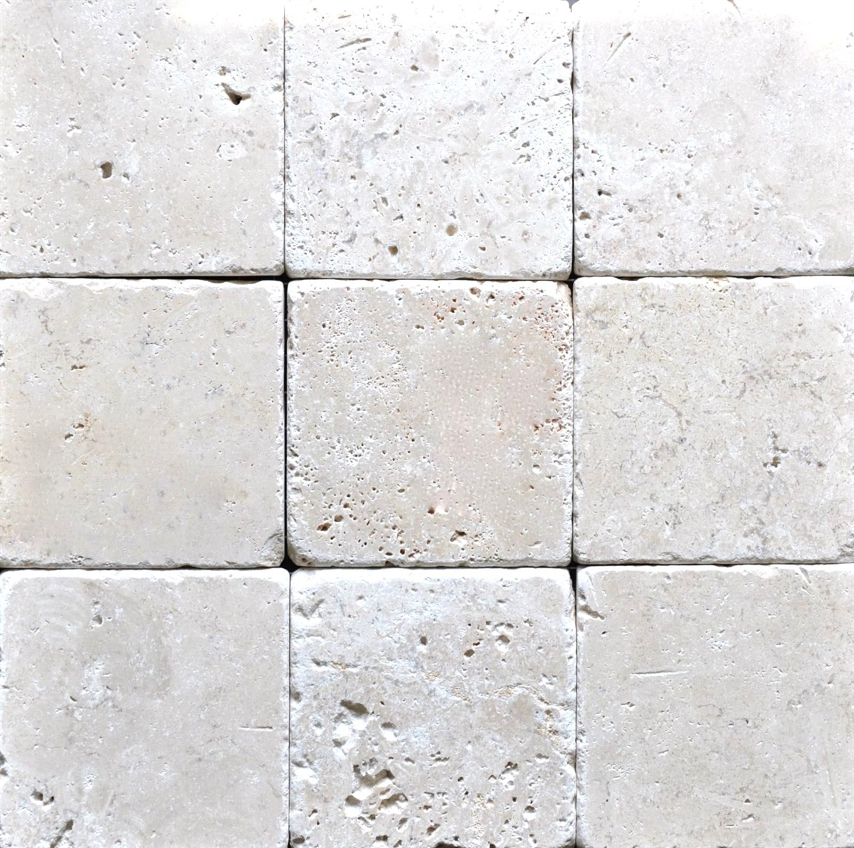 light antiqued tumbled 4x4 wall and floor travertine tile