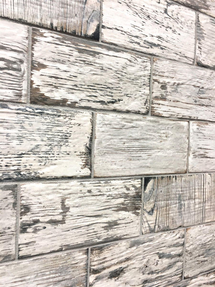 rustic white brick look 4x8 porcelain tile wall floor kitchen box of 34