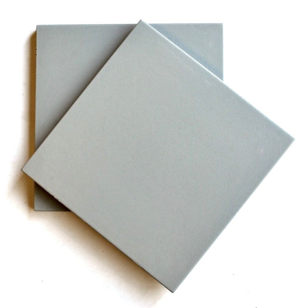 8x8 solid antique grey porcelain stoneware wall and floor tile
