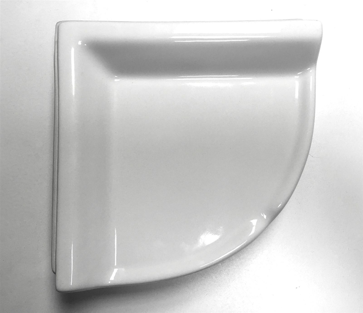 corner shelf white ceramic bath accessory shower thinset mount 8 3 4 x 2 5 8