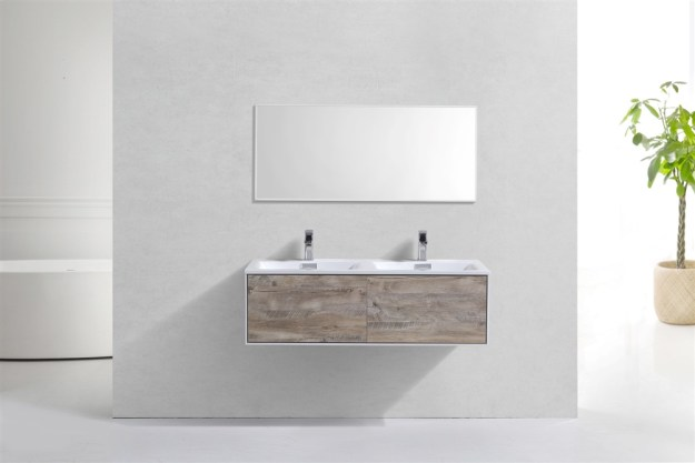 divario 48 inch nature wood wall mount modern bathroom vanity