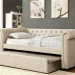 Leanna Queen Size Tufted Upholstered Daybed With Rolled Arms