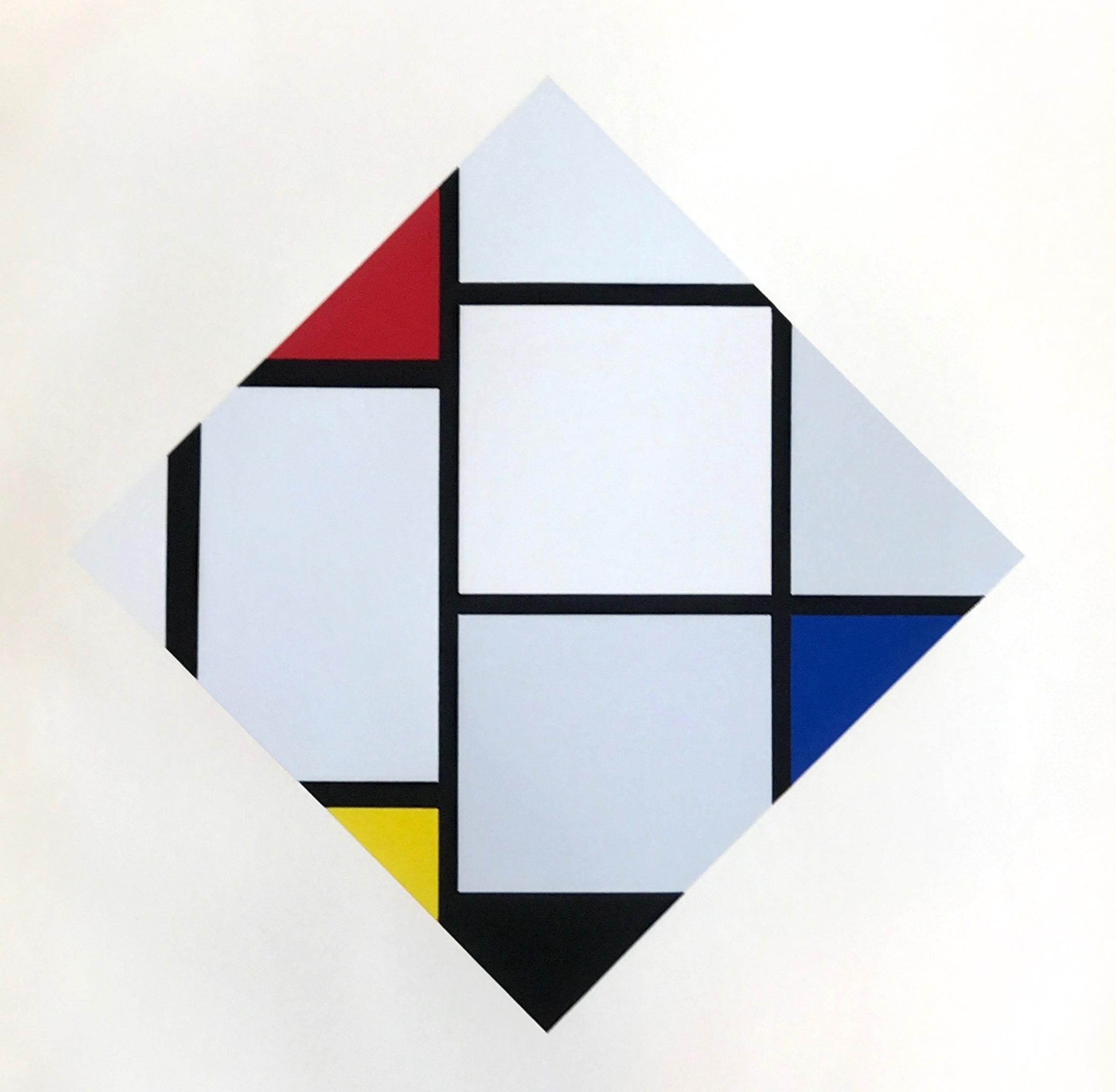 piet mondrian serigraph composition rouge jaune bleu