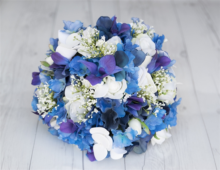 Real Touch Purple Dendrobium Blue Orchids, Roses And