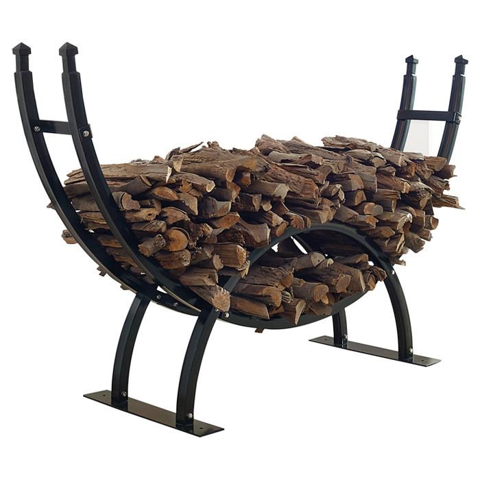 round crescent firewood rack one fourth cord log storage