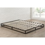 Full Size 6 Inch Low Profile Metal Platform Bed Frame With Wooden Slats Fastfurnishings Com