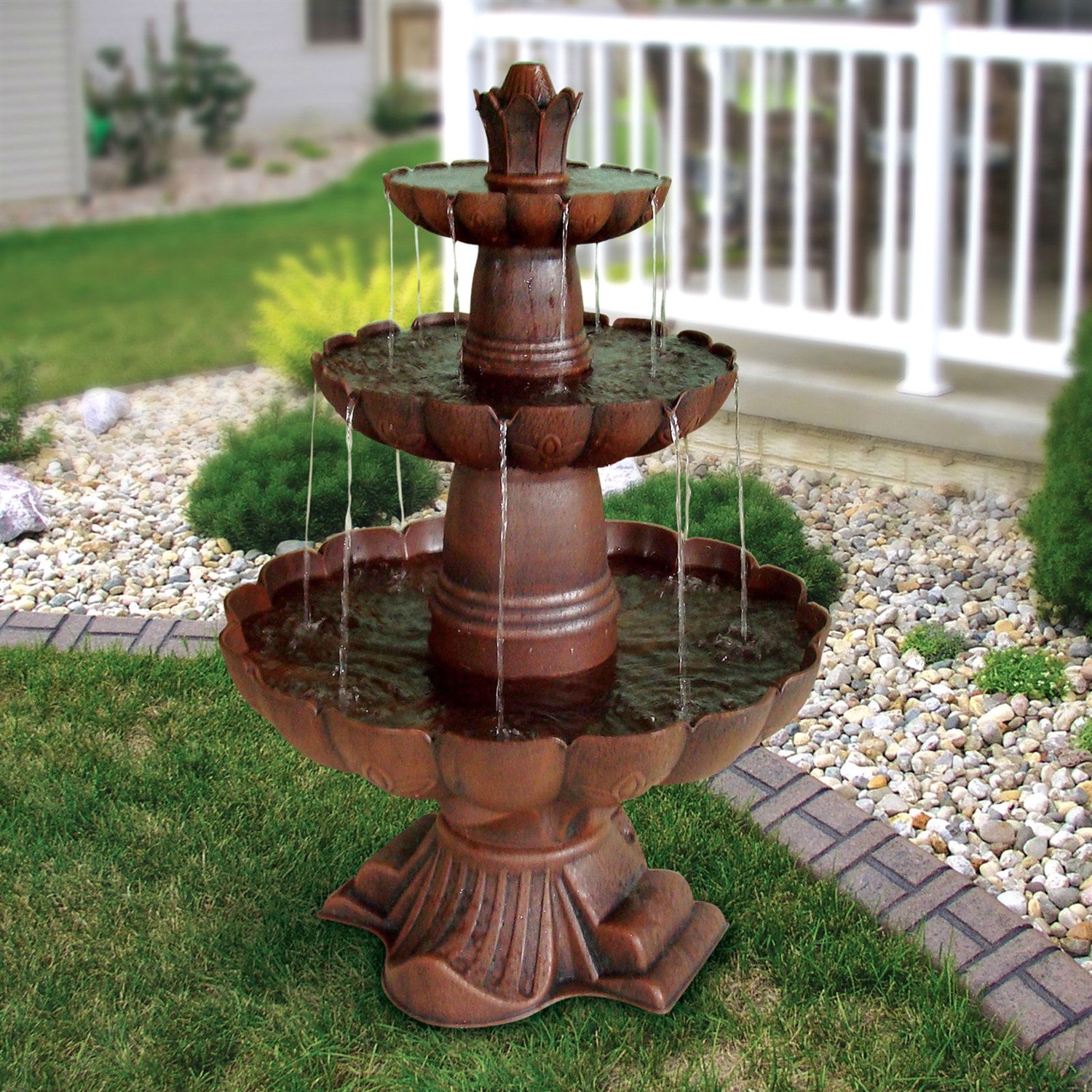 Solar Wall Water Fountains Outdoor