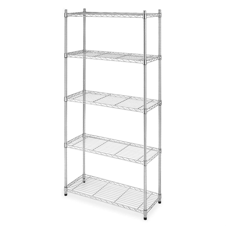 heavy duty 5 shelf metal storage rack shelving unit