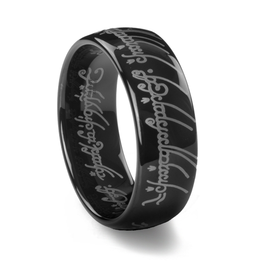 Lord Of The Rings Black Tungsten Carbide One Ring