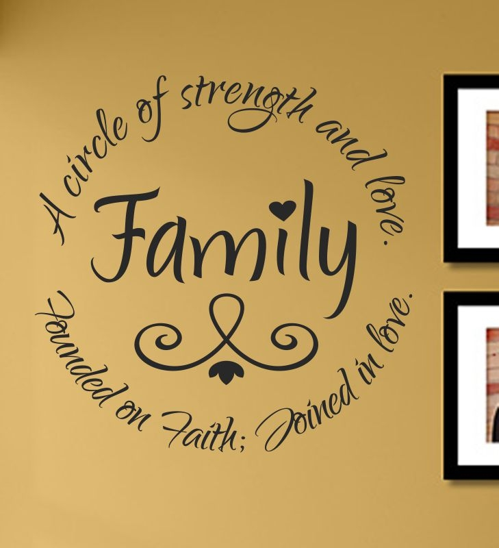 Download Family a circle of strength and love. Founded on Faith ...