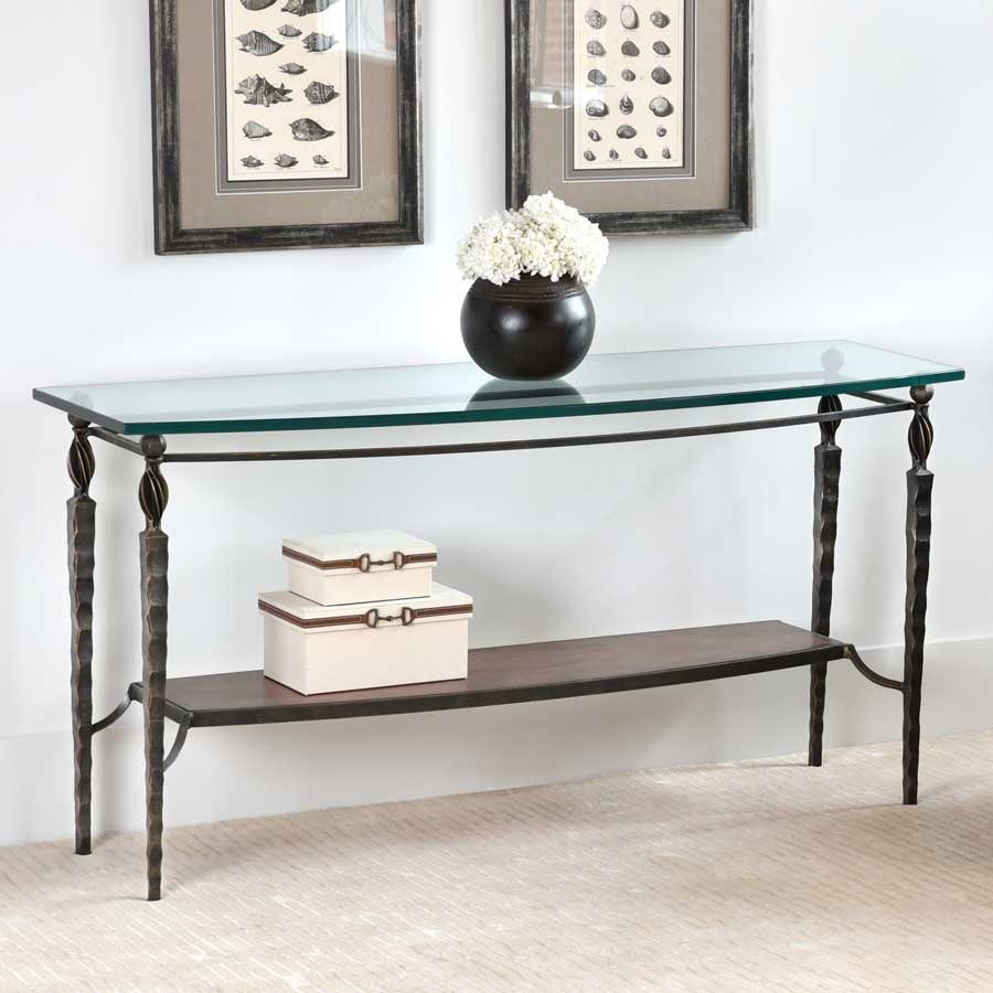 wrought iron winston console table by