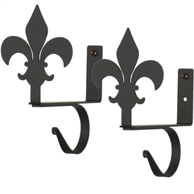 wrought iron curtain rods and iron
