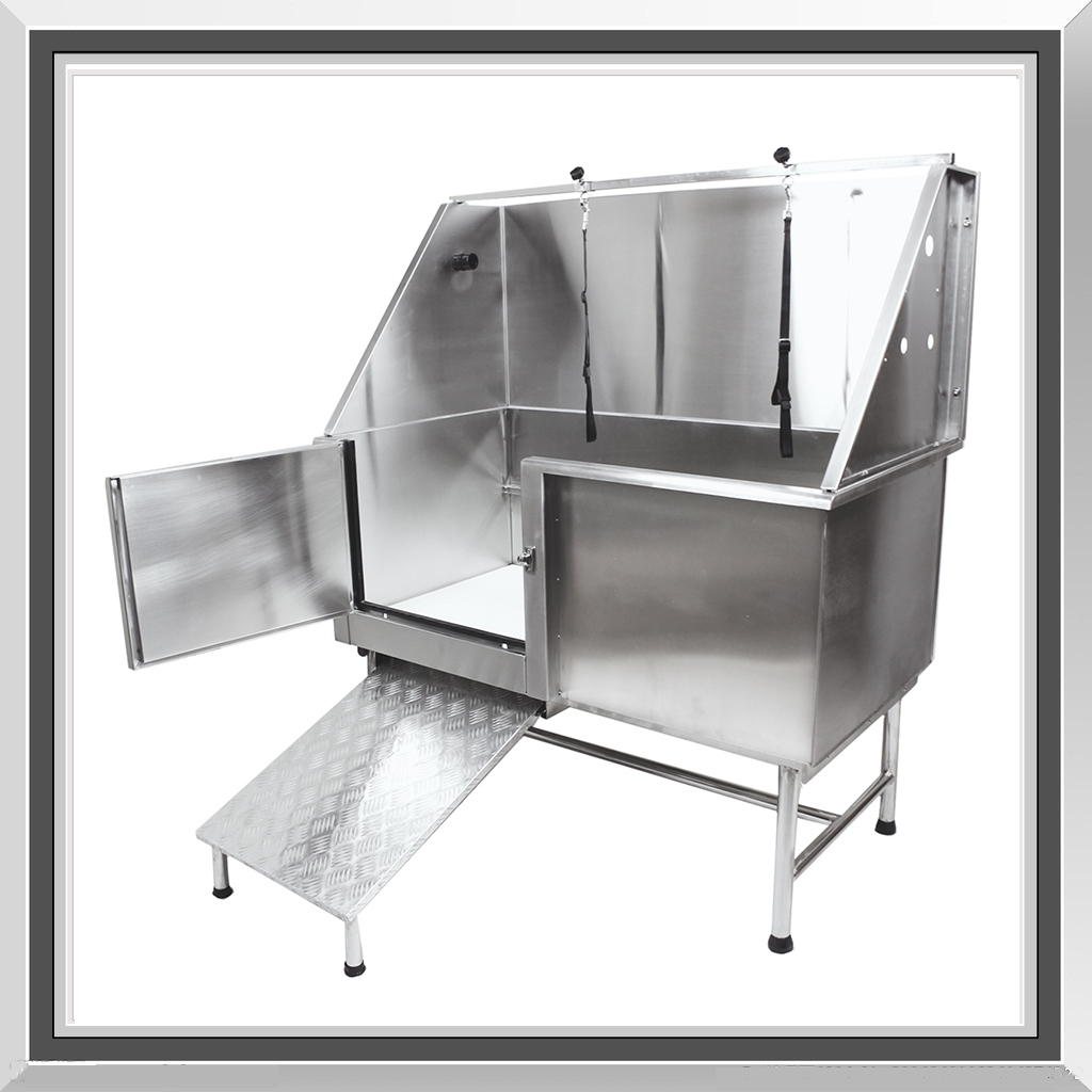 62 professional stainless steel dog pet grooming bath tub with ramp